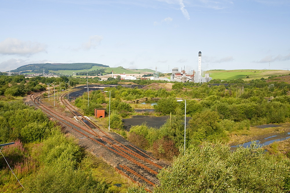 Fife power station, a gas turbine power plant on the site of the former Westfield open cast coal mine, near Ballingry, Perth and Kinross, Scotland, United Kingdom, Europe