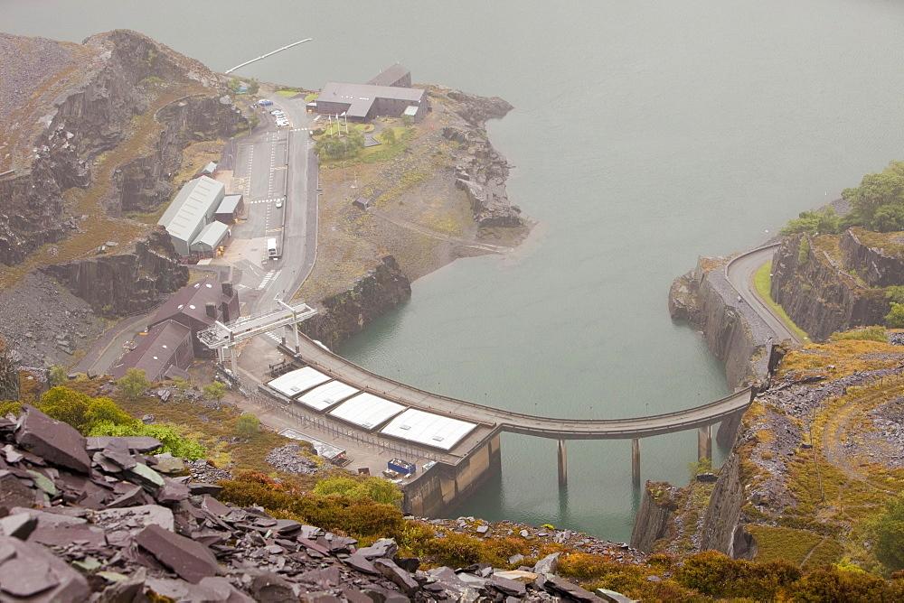 Dinorwig power station in Llanberis, Snowdonia, North Wales, United Kingdom, Europe