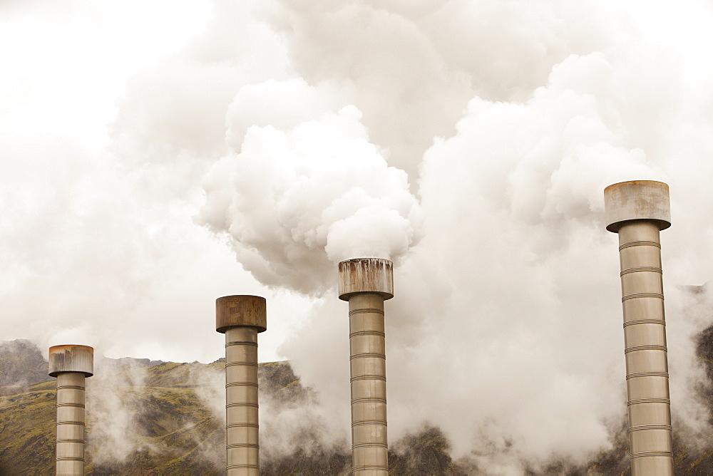 Hellisheidi geothermal power station in Hengill, Iceland, Polar Regions - 911-6835
