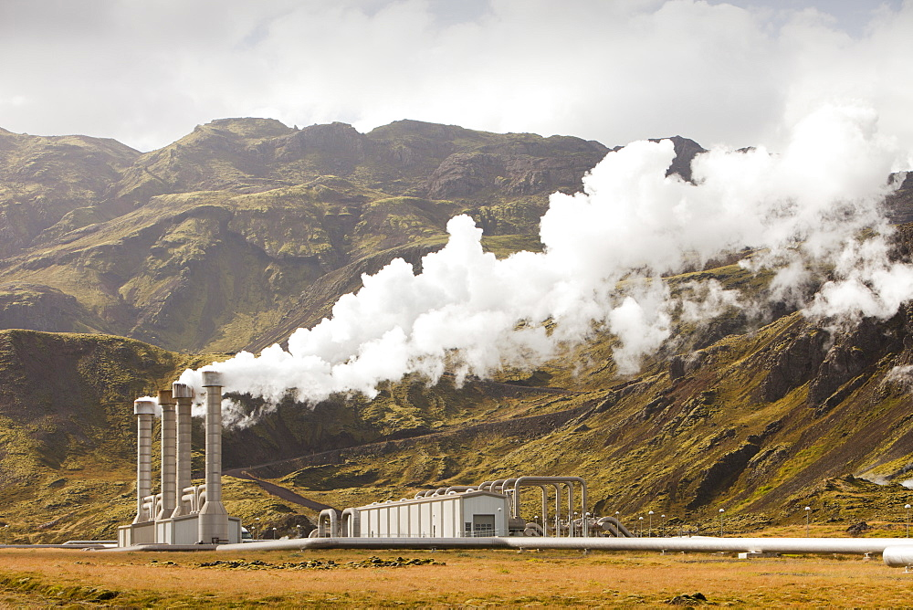 Hellisheidi geothermal power station in Hengill, Iceland, Polar Regions - 911-6839