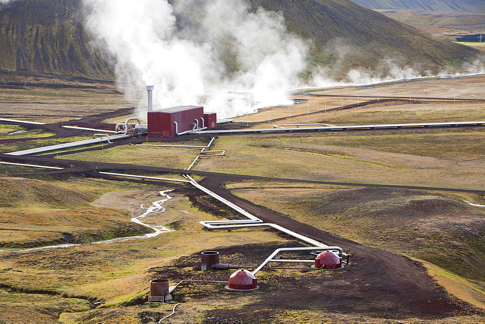 Krafla geothermal power station near Myvatn, Iceland, Polar Regions - 911-6864