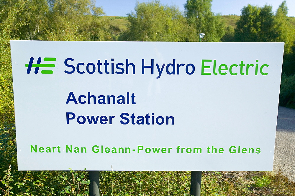 Achanalt hydro electric power station in Scotland, United Kingdom, Europe