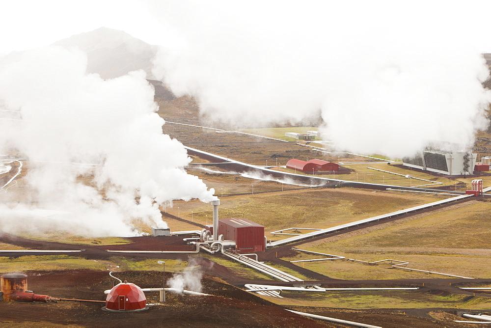 Krafla geothermal power station near Myvatn, Iceland, Polar Regions - 911-6893