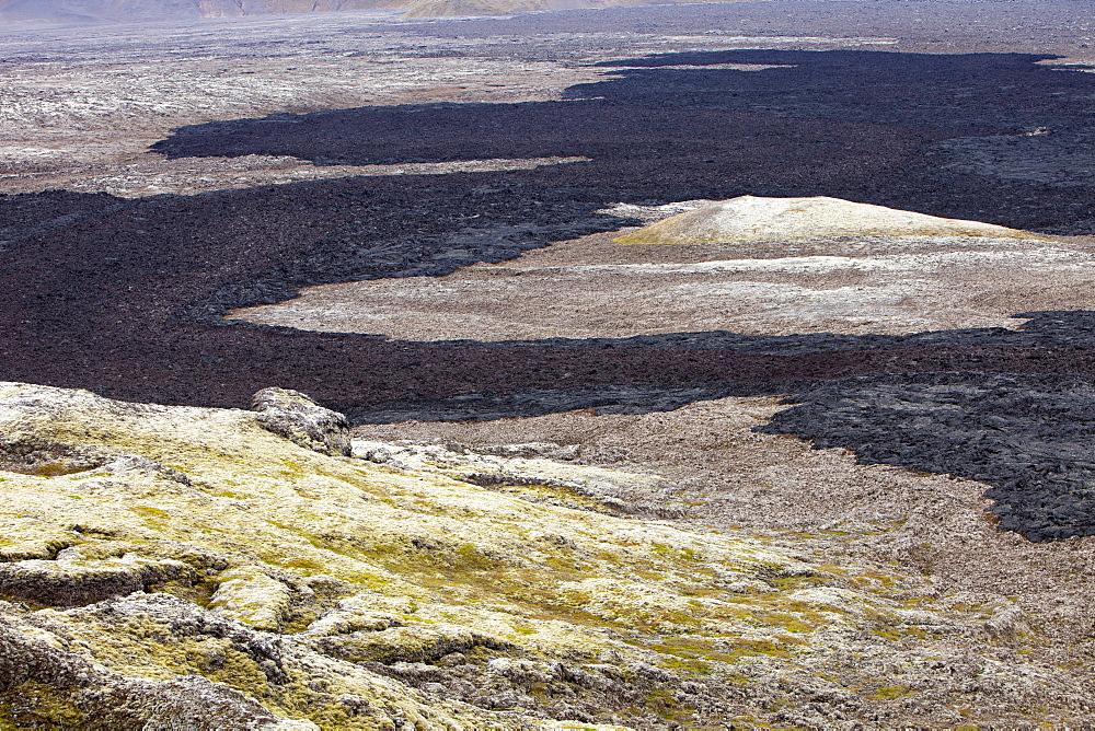 A fresh lava flow that erupted during the Krafla fires at Leirhnjukur near Myvatn, during the 1970s and 80s, Iceland, Polar Regions