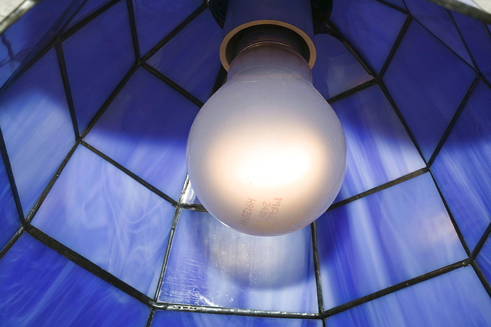 A traditional light bulb