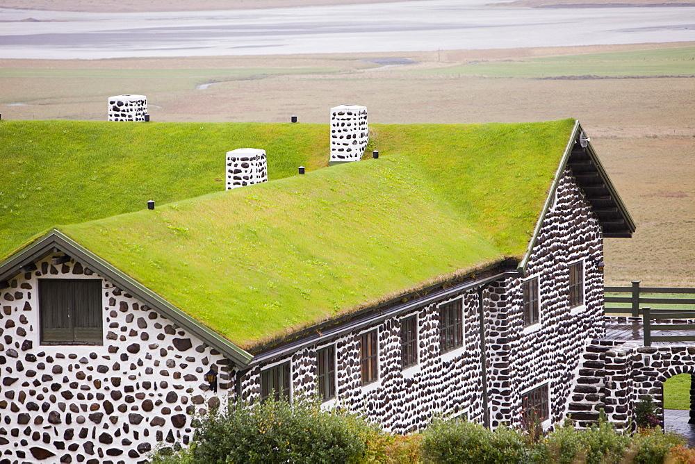 Kriduklaustur, an old farmhouse once owned by the famous, Danish Icelandic writer Gunnar Gunnersson near Egilsstadir, Iceland, Polar Regions