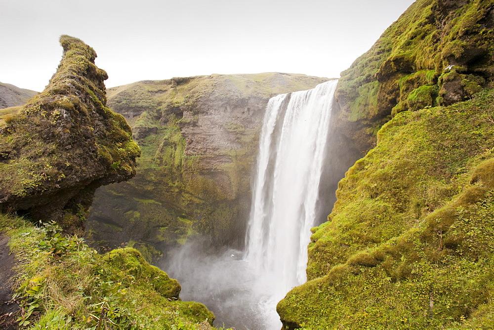 Skogarfoss waterfall on Iceland's south coast at Skogar, Iceland, Polar Regions