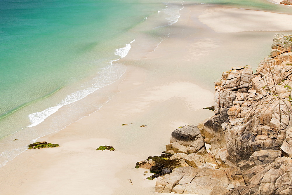 Porthcurno Beach in West Cornwall, England, United Kingdom, Europe