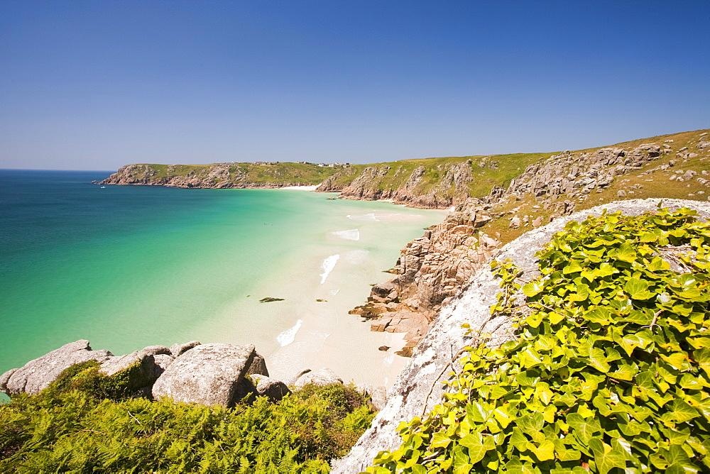Porthcurno beach in Cornwall, England, United Kingdom, Europe