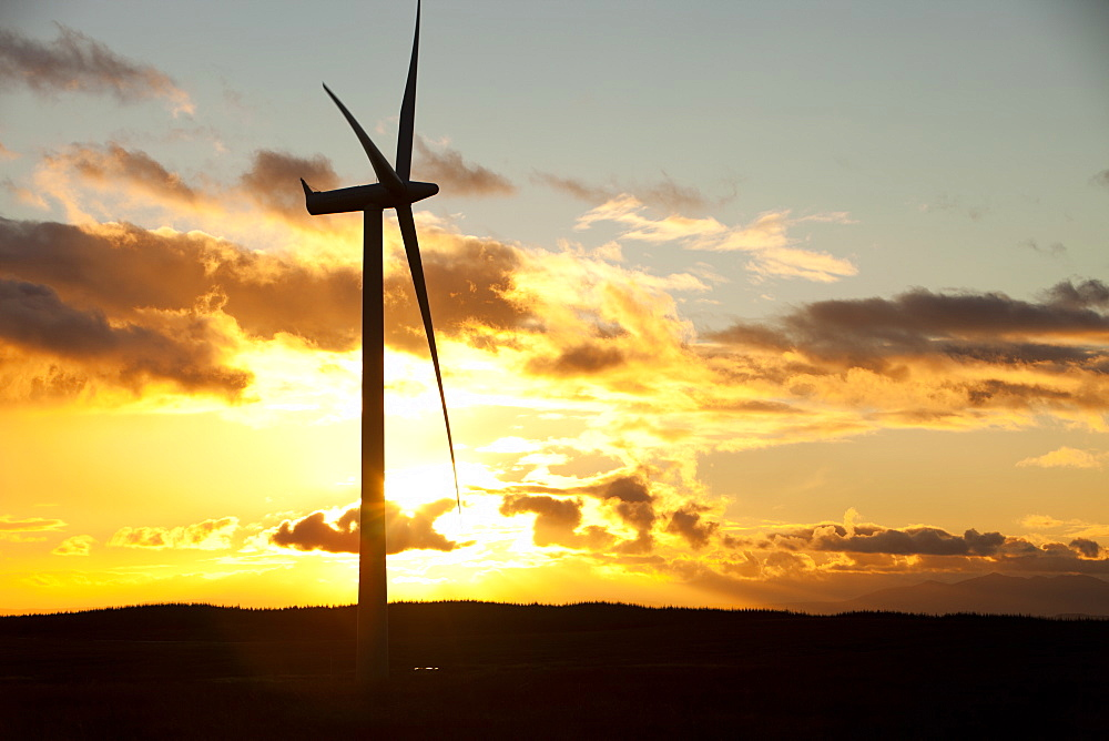 Whitlee wind farm on Eaglesham Moor just south of Glasgow in Scotland, United Kingdom, Europe