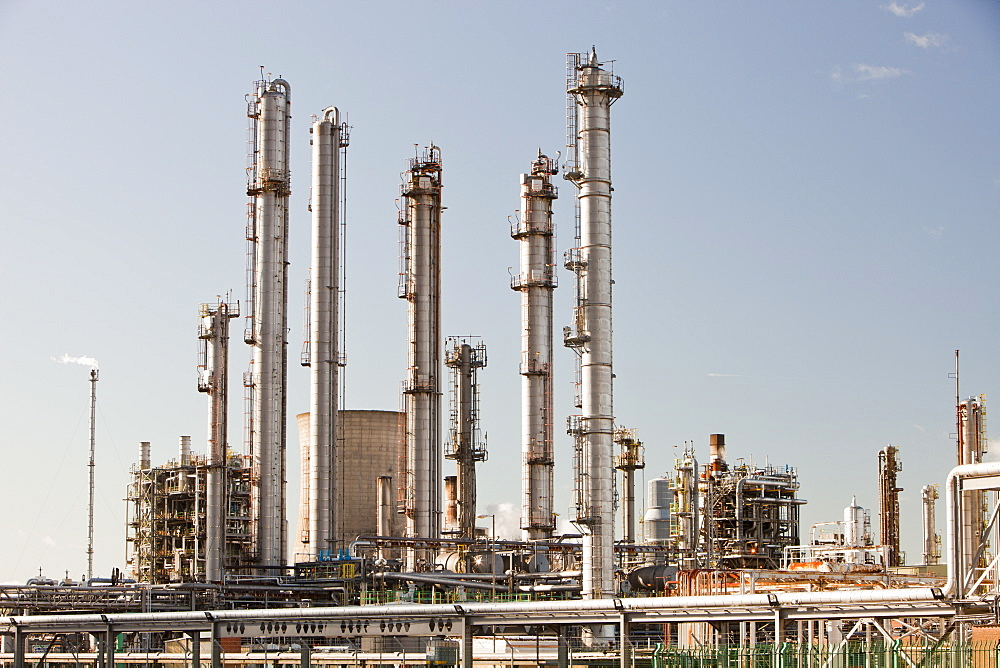 The Ineos oil refinery at Grangemouth in the Firth of Forth, Scotland, United Kingdom, Europe