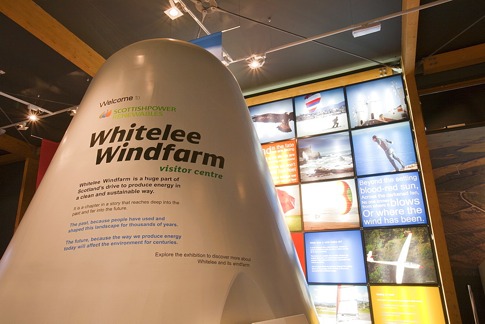 The visitor centre at Whitlee wind farm on Eaglesham Moor just south of Glasgow in Scotland, United Kingdom, Europe