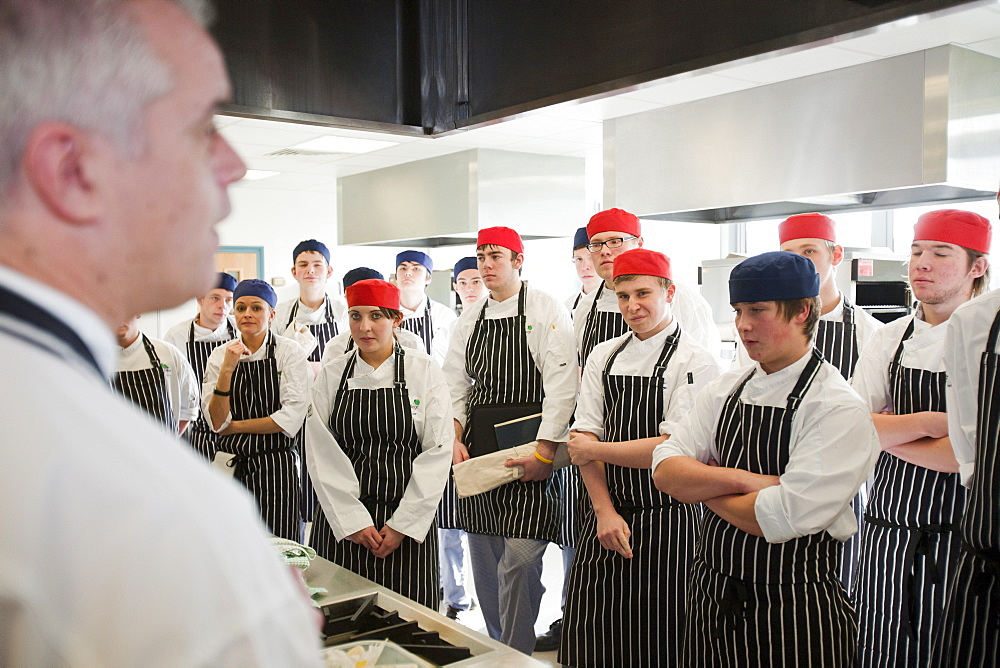 Catering students at Kendal College, Cumbria England, United Kingdom, Europe