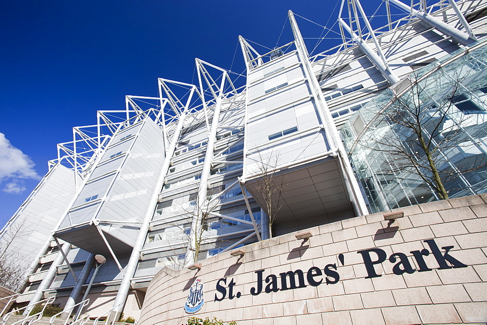 St, James' Park, the home of Newcastle United football club, Newcastle, Tyneside, England United Kingdom, Europe