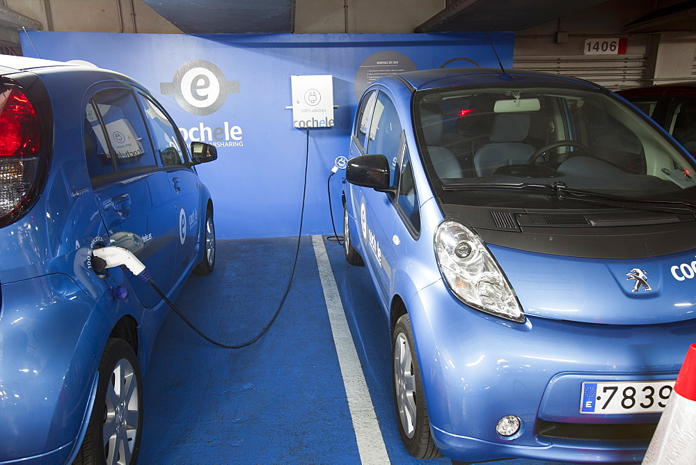 Electric cars for hire in Seville, Spain, Europe