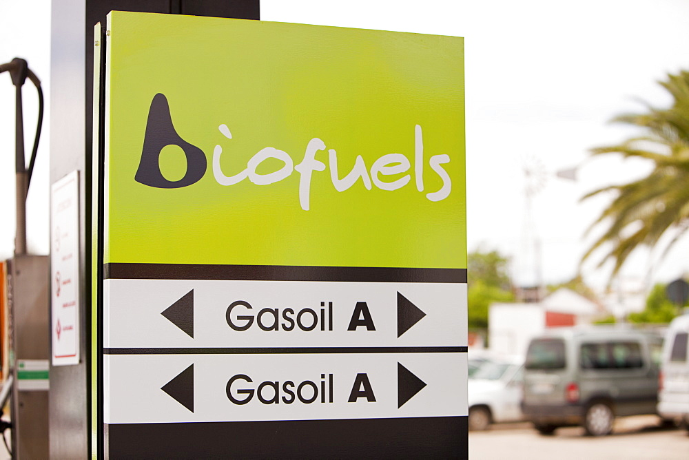 A bio fuel petrol station in Ecija, Andalucia, Spain, Europe