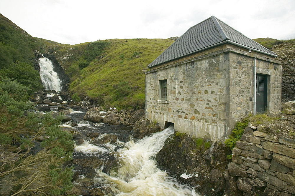 A small scale HEP works at Kylesku in Assynt, Highlands, Scotland, United Kingdom, Europe