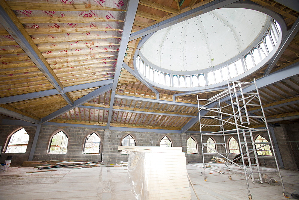 A new mosque being built in Keighley, West Yorkshire, Yorkshire, England, United Kingdom, Europe