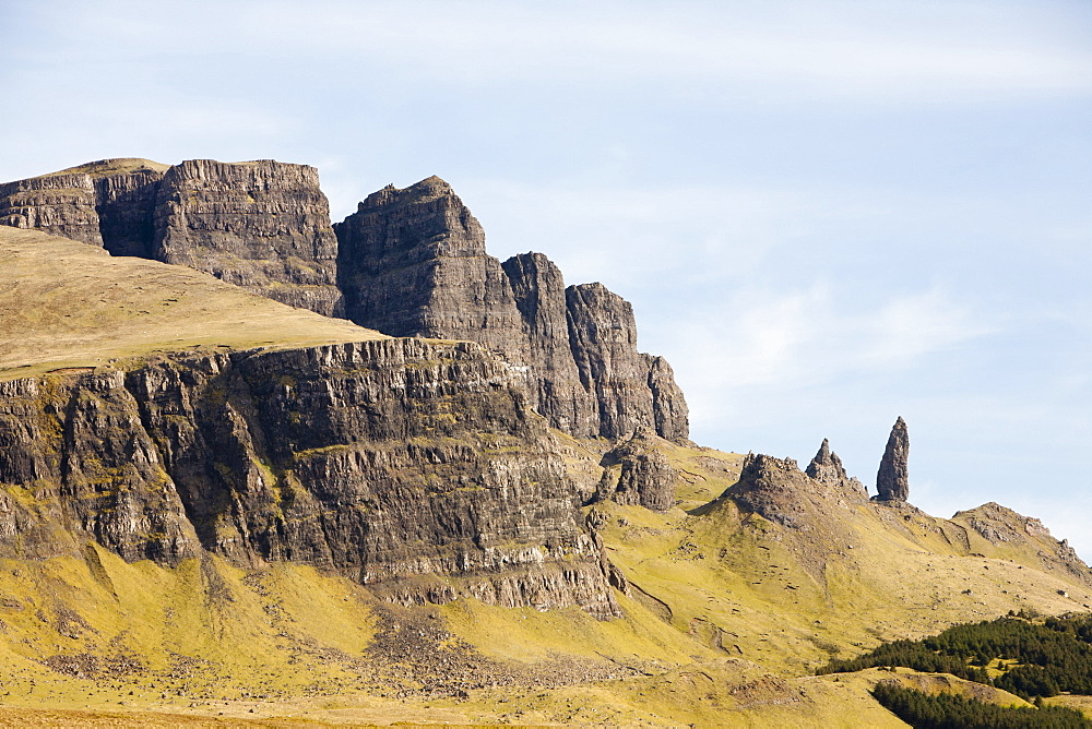 The Old Man of Storr on the Trotternish Peninsula, Isle of Skye, Scotland, United Kingdom, Europe