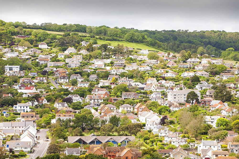 The village of Charmouth on the Jurrasic Coast of Dorset, England, United Kingdom, Europe
