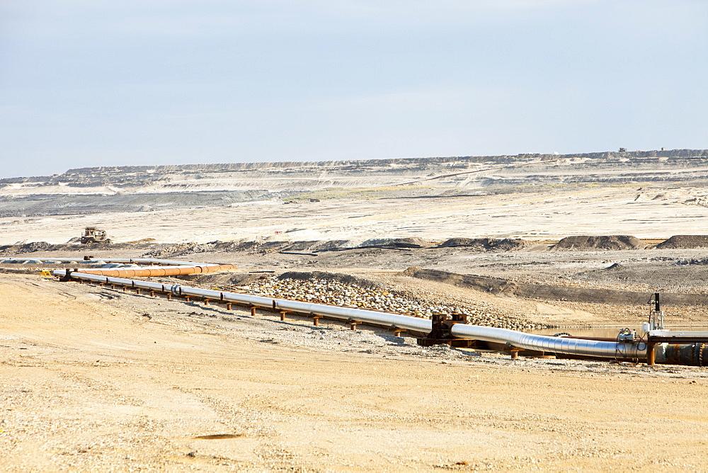 Shell's Albian Sands tar sands mine, Alberta, Canada, North America