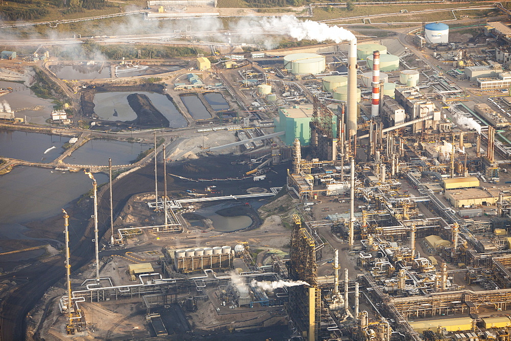 Tar sands deposits being mined at the Syncrude mine north of Fort McMurray, Alberta, Canada, North America