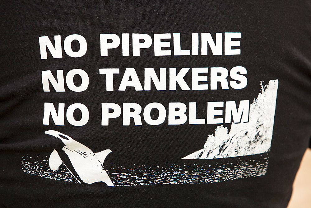 A protest t shirt against tar sands pipelines, Alberta, Canada, North America
