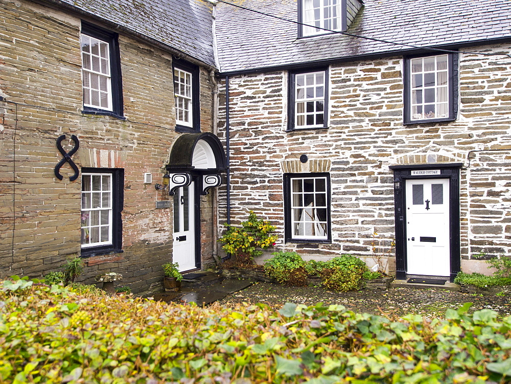 Raleigh Cottage, the former house of Sir Walter Raleigh in Padstow, Cornwall, England, United Kingdom, Europe