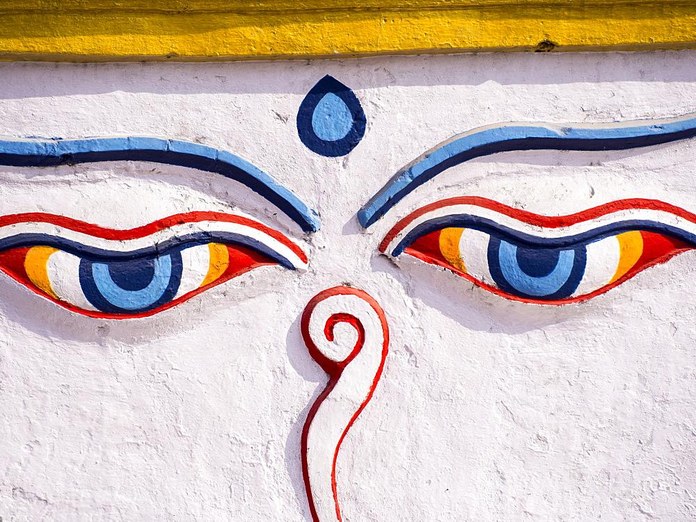 A Buddhist stupa in Kathmandu, Nepal, Asia