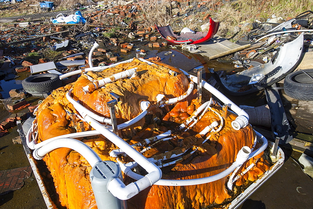 Fly tipping in Barrow in Furness, Cumbria, England, United Kingdom, Europe - 911-9470