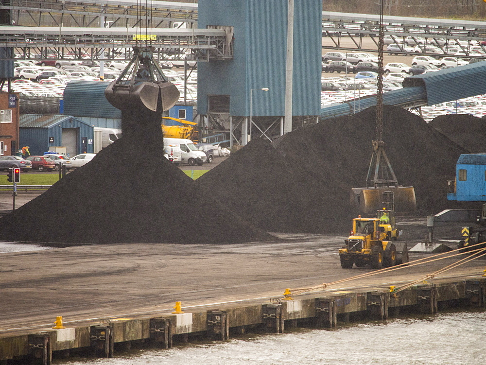 Coal at the Port of Tyne at North Shields near Newcastle, England, United Kingdom, Europe