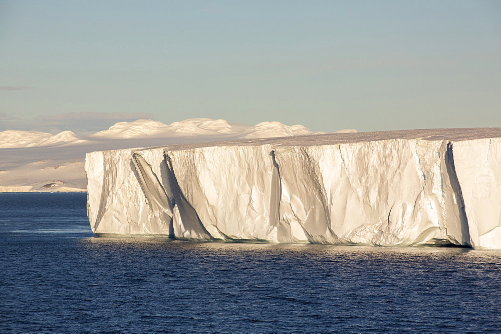 A tabular iceberg off Livoinstone Island on the Antarctic Peninsular. The peninsular is one of the fastest warming places on the planet.