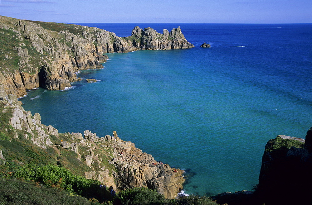 Logan Rock, Porthcurno, Cornwall, England, UK, Europe