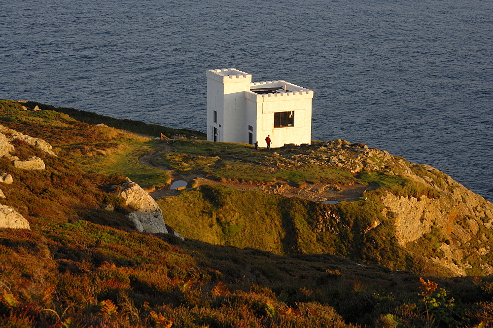 RSPB visitor centre Ellins Tower, South Stack Cliffs, Holyhead, Anglesey, North Wales, UK, Europe