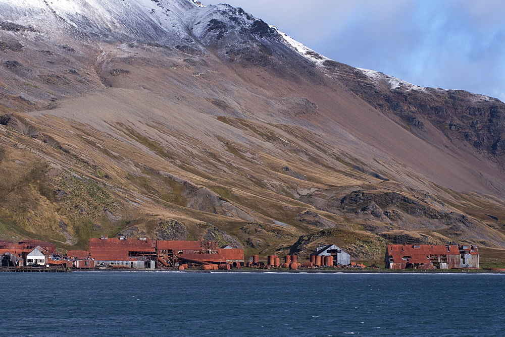 The abandoned Whaling Station at Grytviken. South Georgia, South Atlantic Ocean.