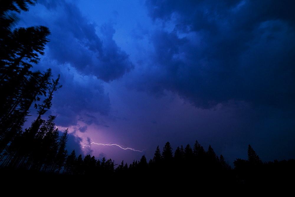 Thunderstorm, lightning, White Carpathians, Czech Republic, Europe - 918-36