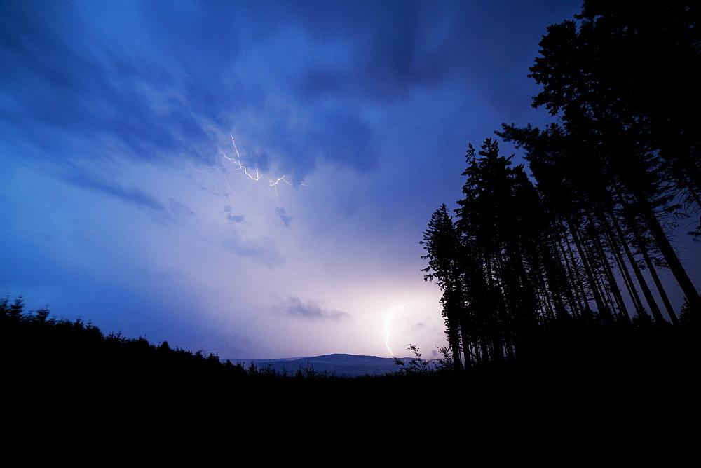 Thunderstorm, lightning, White Carpathians, Czech Republic, Europe - 918-37