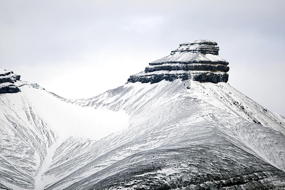 Sfinksen, Billefjorden, Spitsbergen, Svalbard, Norway, Scandinavia, Europe - 918-86