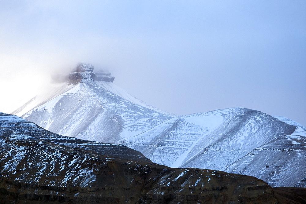 Billefjorden, Spitsbergen, Svalbard, Norway, Scandinavia, Europe - 918-89