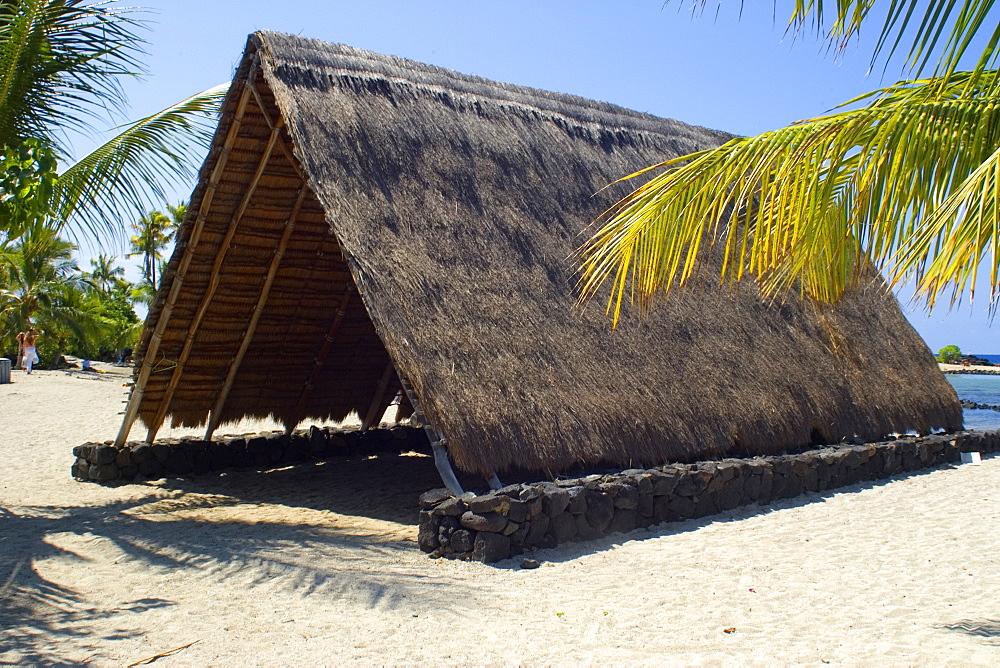 Traditional Hawaiian hut, Kailua-Kona, Big Island, Hawaii, United States of America, Pacific