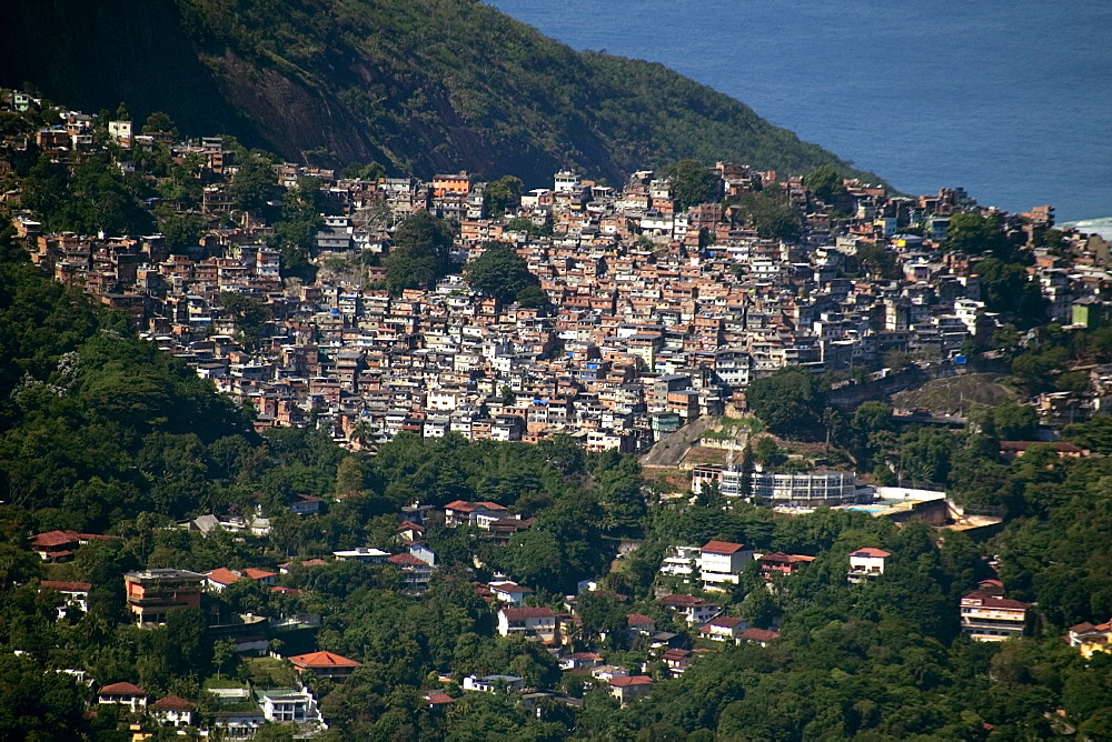 Favela Rocinha, the most populated slum in the world, Rio de Janeiro, Brazil, South America - 920-1280