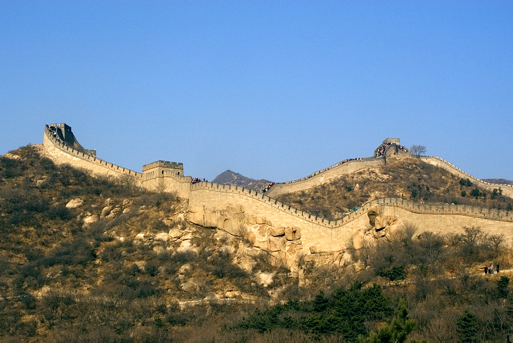 View of the Great Wall of China, UNESCO World Heritage Site, near Badaling, China, Asia - 920-1606