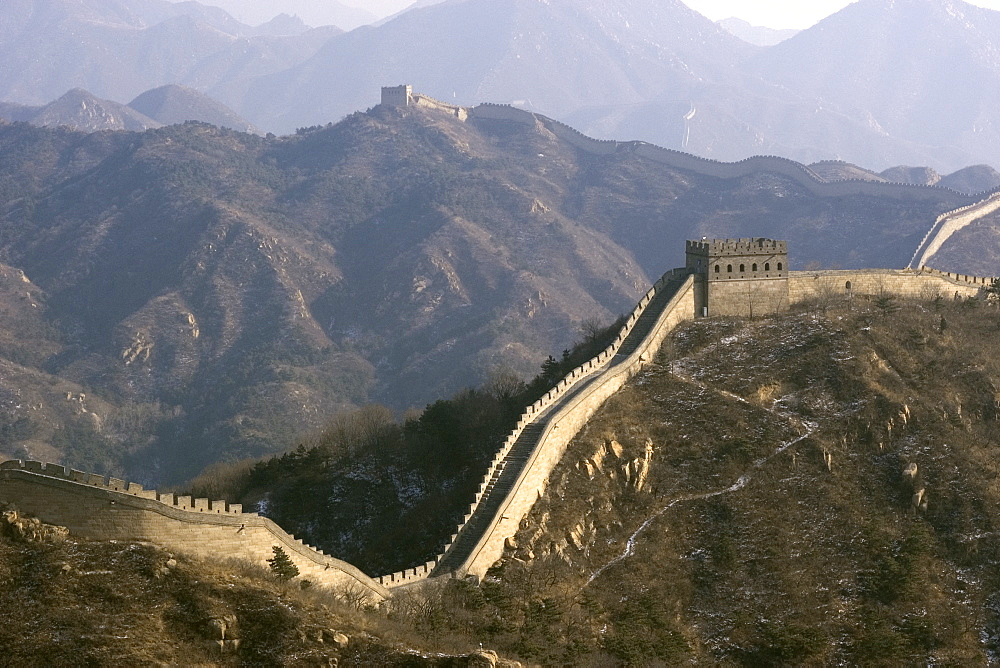 View of the Great Wall of China, UNESCO World Heritage Site, near Badaling, China, Asia