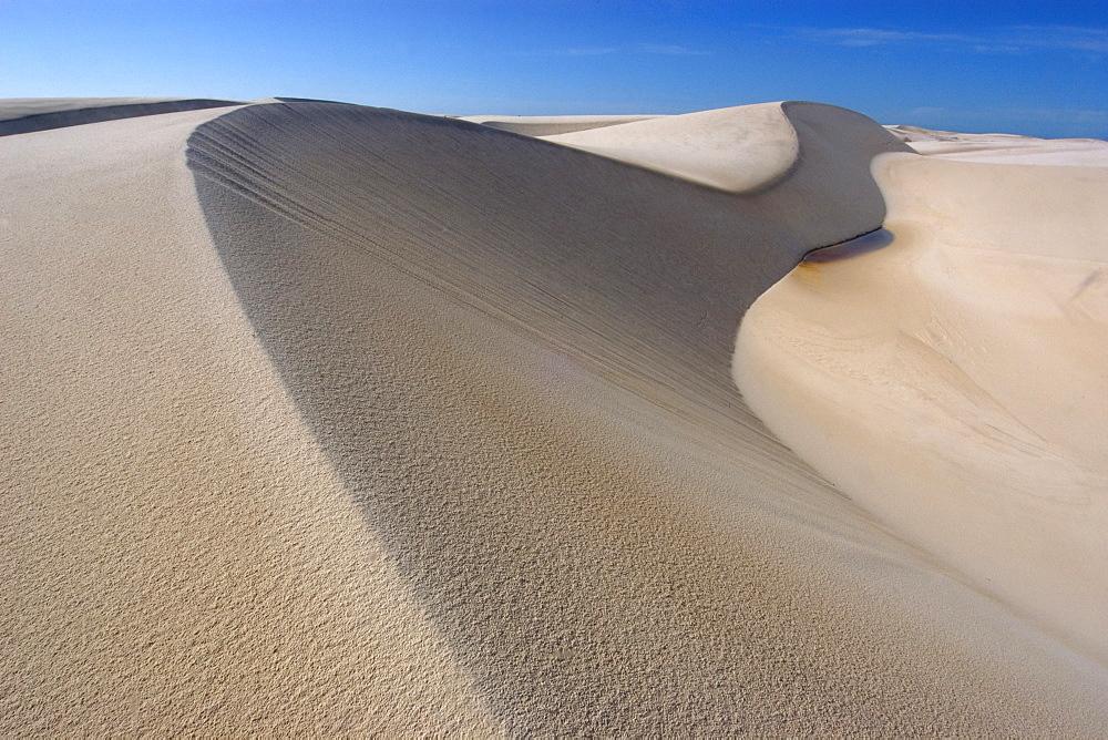 Sand dunes of Lencois Maranhenses National Park, Santo Amaro, Maranhao, Brazil, South America