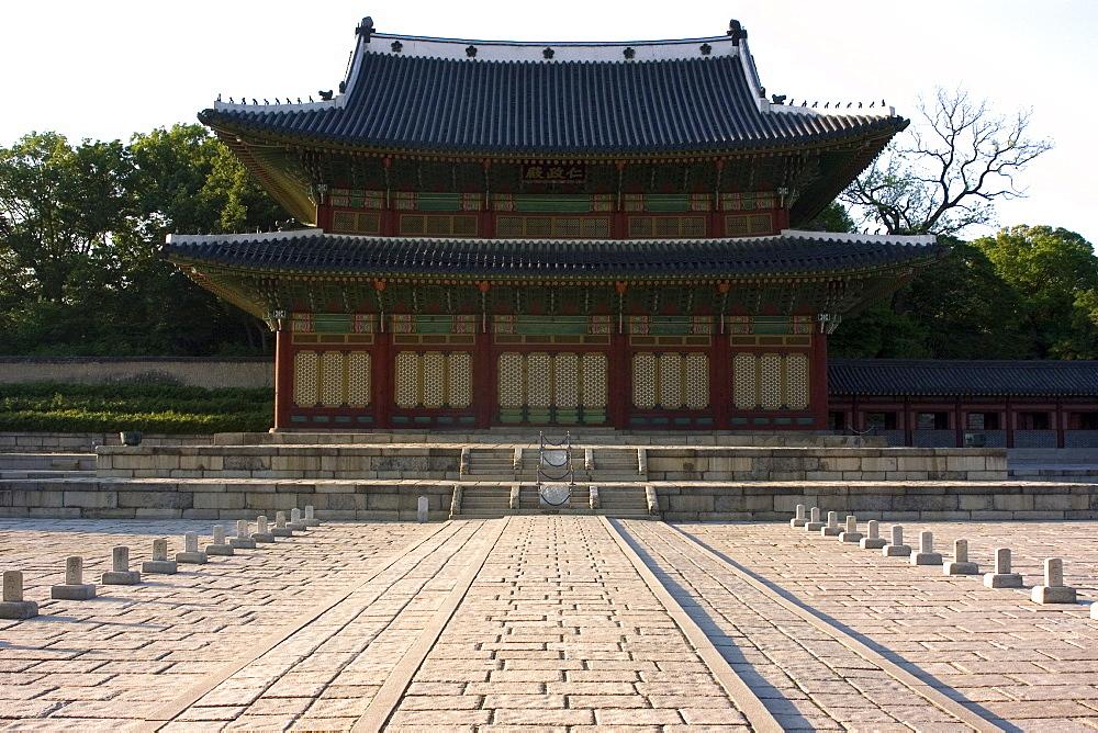 Main pagoda of Changdeokgung Palace, Seoul, South Korea, Asia