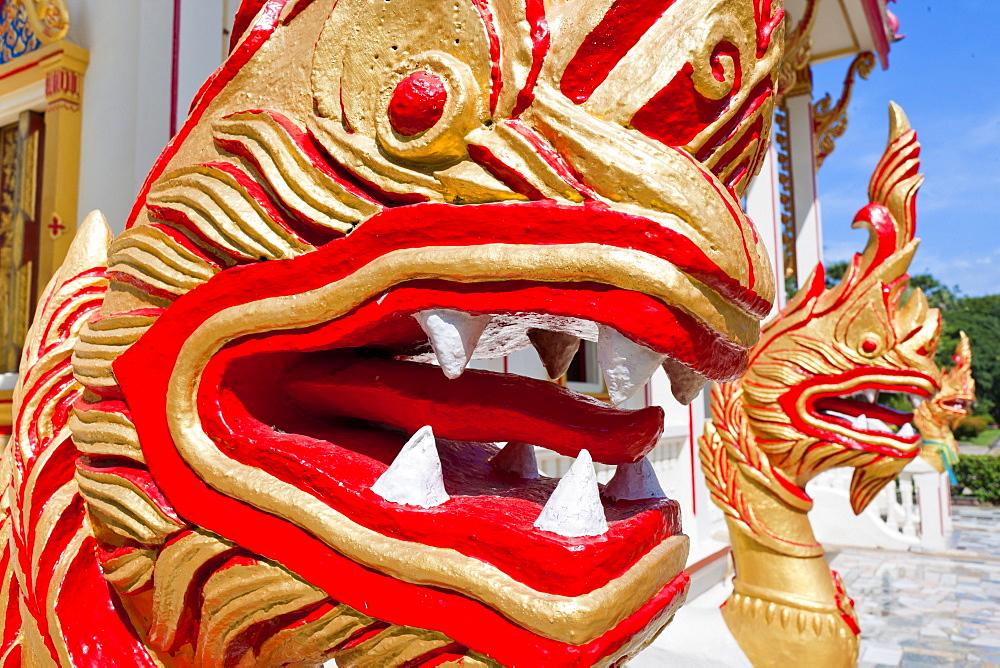 Karon Beach, Buddhist Temple, Phuket Island, Phuket, Thailand, Southeast Asia, Asia - 921-1365