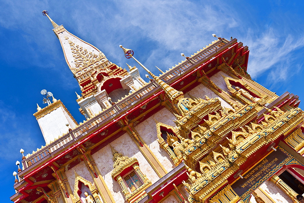 Karon Beach, Buddhist Temple, Phuket Island, Phuket, Thailand, Southeast Asia, Asia - 921-1366