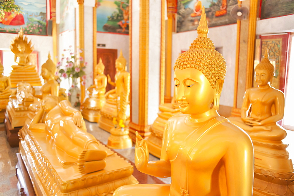 Statues, Karon Beach, Buddhist Temple, Phuket Island, Phuket, Thailand, Southeast Asia, Asia - 921-1368