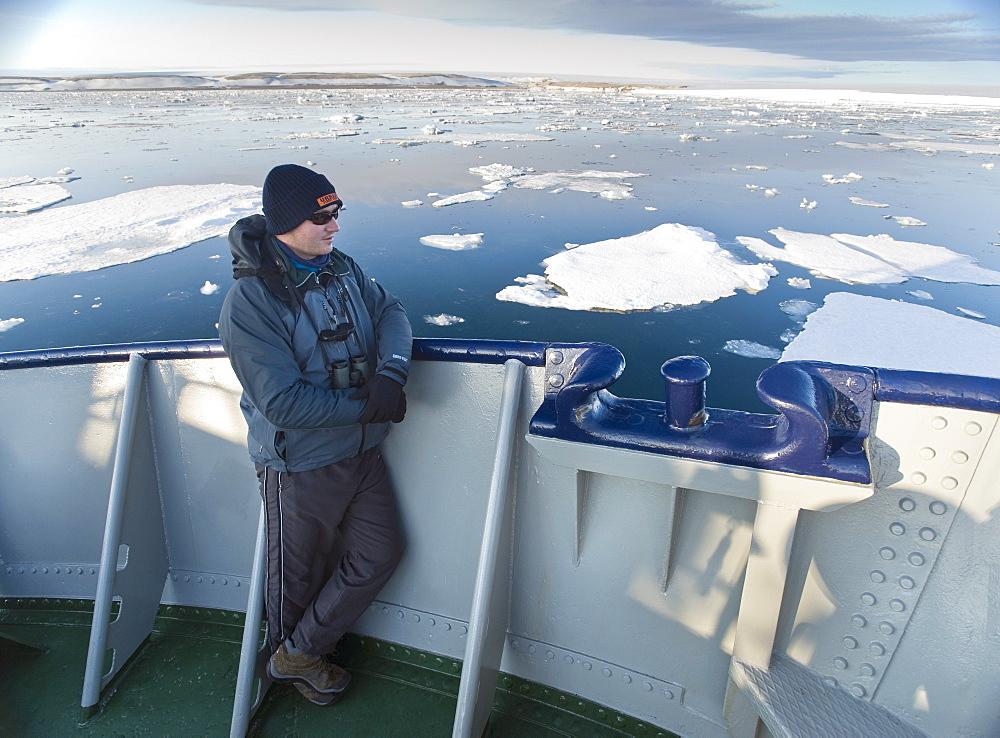 The Stockholm, Tourist, ice braker, ice sheets, . Longyearbyen, Svalbard, Norway