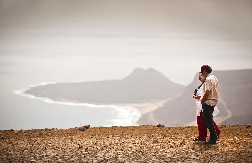 04/04/2009. Cape Verde, Cabo Verde, São Vicente, Mindelo,  Monte VerdeSao Pedro, View from Monte Verde . Mindelo, Mt Verde, Sao Vicente Island. Cape Verde Islands